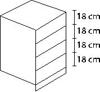 Συρτάρια βάσης κουζίνας - 4 συρτάρια