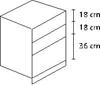 Συρταριέρα βάσης κουζίνας 90άρα με 2 συρτάρια και 1 βαγονέτο