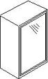 Βιτρίνα αμμοβολής με αλουμίνιο, 72 εκατοστά ύψος και 1 πόρτα