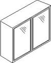 Βιτρίνα αμμοβολής με αλουμίνιο, 72 εκατοστά ύψος και 2 πόρτε