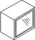 Βιτρίνα αμμοβολής με αλουμίνιο, 36 εκατοστά ύψος και 1 πόρτα
