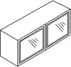 Βιτρίνα αμμοβολής με αλουμίνιο, 36 εκατοστά ύψος και 2 πόρτες